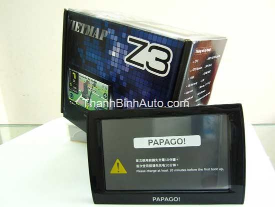 Thiết bị dẫn đường Papago Z3